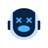 Robot Face Icon Shocked Face Emotion Robotic Emoji. Vector Illustration Royalty Free Stock Image