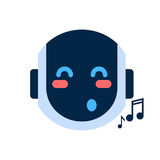 Robot Face Icon Singing Smiling Face Emotion Robotic Emoji Royalty Free Stock Photography