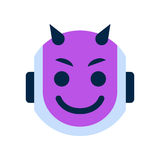 Robot Face Icon Smiling Devil Face Emotion Robotic Emoji Royalty Free Stock Image