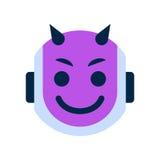 Robot Face Icon Smiling Devil Face Emotion Robotic Emoji. Vector Illustration Royalty Free Stock Image