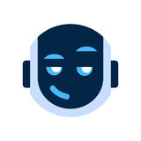 Robot Face Icon Smiling Face Cunning Emotion Robotic Emoji. Robot Face Icon Smiling Face Emotion Robotic Emoji Vector Illustration Royalty Free Stock Images