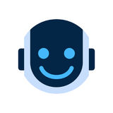 Robot Face Icon Smiling Face Emotion Robotic Emoji. Vector Illustration Stock Photography