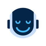 Robot Face Icon Smiling Face Emotion Robotic Emoji. Vector Illustration Stock Images
