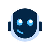 Robot Face Icon Smiling Face Emotion Robotic Emoji. Vector Illustration Royalty Free Stock Images