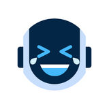 Robot Face Icon Smiling Face Laugh Emotion Robotic Emoji Stock Photo
