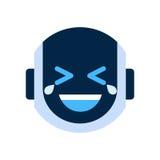 Robot Face Icon Smiling Face Laugh Emotion Robotic Emoji. Vector Illustration Stock Photo