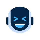 Robot Face Icon Smiling Face Laugh Emotion Robotic Emoji Royalty Free Stock Image