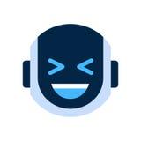 Robot Face Icon Smiling Face Laugh Emotion Robotic Emoji. Vector Illustration Royalty Free Stock Image