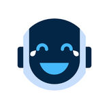 Robot Face Icon Smiling Face Laugh Emotion Robotic Emoji Royalty Free Stock Photo