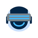 Robot Face Icon Smiling Face Wearing Digital Glasses Emotion Robotic Emoji Stock Photo
