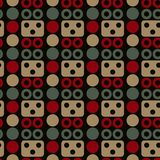 Robot face seamless pattern. Suitable for screen, print and other media Stock Photos