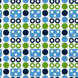 Robot face seamless pattern. Suitable for screen, print and other media Royalty Free Stock Photos
