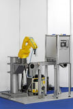 Robot in factory Royalty Free Stock Image