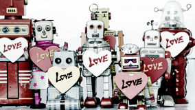 Robot family Stock Photography