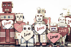 Robot family Royalty Free Stock Photos