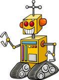 Robot fantasy character cartoon Stock Images