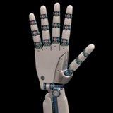 Robot fem Fotografering för Bildbyråer