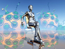 Robot femelle Images stock
