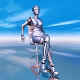 Robot femelle Photo stock