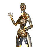 Robot femelle Photographie stock