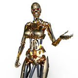 Robot femelle Photos stock