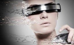 Robot femminile Immagini Stock Libere da Diritti