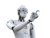 Robot finger pointing Royalty Free Stock Photography