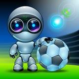 Robot football Stock Image