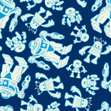 Robot force seamless pattern on a navy background Stock Photography