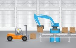 Robot forklift Royalty Free Stock Image