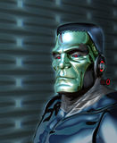 Robot Frankenstein - hot för konstgjord intelligens Arkivfoto