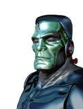 Robot Frankenstein - hot för konstgjord intelligens Arkivfoton