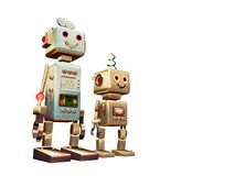 Robot friends background Stock Photo