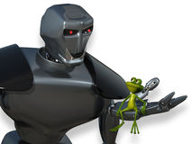 Robot and the Frog Royalty Free Stock Image