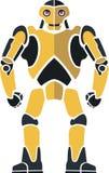 Robot fuerte amarillo Ilustración del Vector