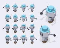 Robot futurista isométrico foto de archivo libre de regalías