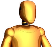 Robot futuristic android golden Stock Photo