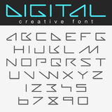 Robot Futuristic font  design future Letters Numbers Royalty Free Stock Image