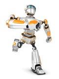 Robot futuristico che corre velocemente royalty illustrazione gratis
