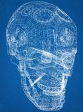 Robot głowy projekta architekta projekt royalty ilustracja