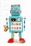 Robot game over Royalty Free Stock Photography