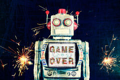 Robot game over Royalty Free Stock Image