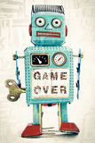 Robot game over Royalty Free Stock Photo