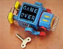 Robot game over Stock Photos