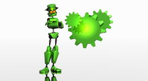 Robot with gears Royalty Free Stock Photo