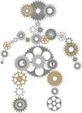 Robot of gears Royalty Free Stock Image