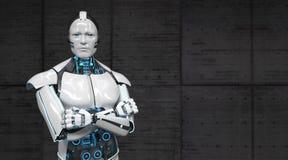 Robot Gekruiste Handen stock illustratie