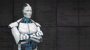 Robot Gekruiste Handen vector illustratie