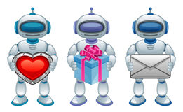 Robot with gift Royalty Free Stock Photo