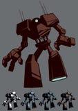 Robot gigante aislado stock de ilustración
